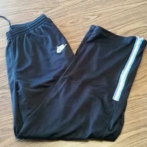 Nike track pants zip calves,L, black